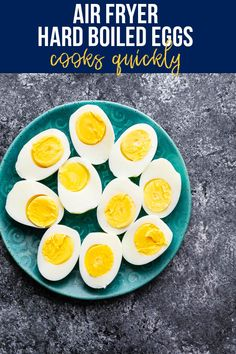 Air fryer hard boiled eggs are cooked through in 16 minutes, peel easily, and are perfectly cooked each and every time! This is such a simple way to cook them. #sweetpeasandsaffron #airfryer #snack #readyunder30 #mealprep #healthysnack Healthy Chips, Healthy Snacks, Ways To Cook Eggs, Portobello Mushroom Recipes, Cooking Hard Boiled Eggs, Slow Cooker Freezer Meals, Appetizer Recipes, Snack Recipes, Appetizers