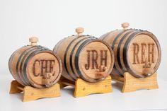 engraved mini oak bourbon whiskey barrels for groomsmen