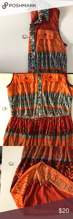 """Gabby Skye Dress with collar Shoulder to bottom of dress 38""""::: excellent condition. Pair with a belt Gabby Skye Dresses"""