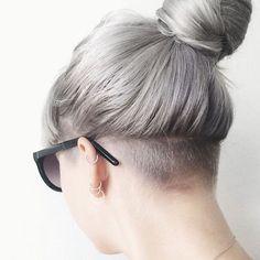 Image result for women undercut bangs