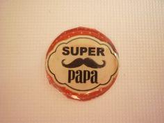 Cabochon rond SUPER PAPA 20 mm. : Autres accessoires bijoux par laboiteabijouxnanny