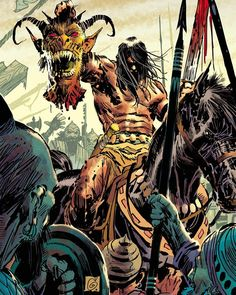 Conan The Barbarian - Variant Cover by Ron Garney Fantasy Images, Fantasy Art, Conan O Barbaro, Conan The Destroyer, Medieval, Savage Worlds, Dc Comics Art, Gay Comics, Conan The Barbarian