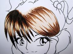 Hair tutorial with Copics - Blank digi included. (Lots of pictures)