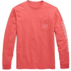 Shop Long-Sleeve Vintage Graphic T-Shirt at vineyard vines ($42) ❤ liked on Polyvore featuring tops, t-shirts, tops/outerwear, vintage graphic t shirts, cotton t shirt, long sleeve graphic t shirts, long sleeve pocket tee and vintage tees