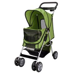 Large Deluxe Folding 4 Wheels Pet Gear Dog Cat Carrier Stroller 8 Colors Choice Green * Check out the image by visiting the link. (This is an affiliate link) #CatCarrier