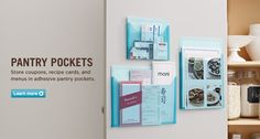 Love this idea - hide menus and birthday invitations in your cupboard!!