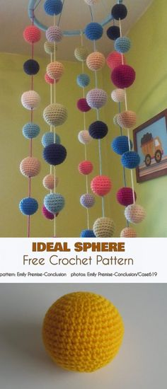 The season for little ghosts and ghouls is not quite here yet, but we have to get ready. It's not all candy and chocolate, after all. These cute little trick-or Crochet Bunting Pattern, Crochet Garland, Crochet Ball, Crochet Decoration, Crochet Home, Crochet Gifts, Diy Crochet, Crochet Patterns, Crochet Baby Mobiles