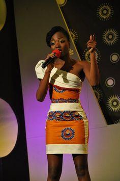 African Print one0shoulder dress