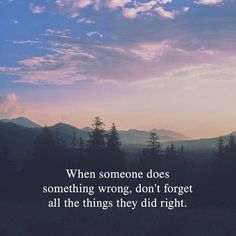 When someone does something wrong..