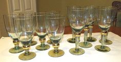 Absolutely Divine Set of 12 Crystal Goblets 2 Sizes MUST SEE!! #Unknown