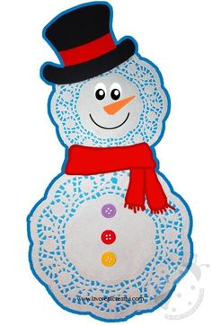 Preschool Christmas, Christmas Bells, Christmas Deco, Winter Christmas, Snowman Crafts, Holiday Crafts, Toddler Crafts, Crafts For Kids, Nursing Home Gifts