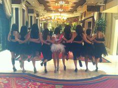 Bachelorette tutu party!!! Bride in white and everyone else in black... So fun! Need a tutu? Eviejay.com
