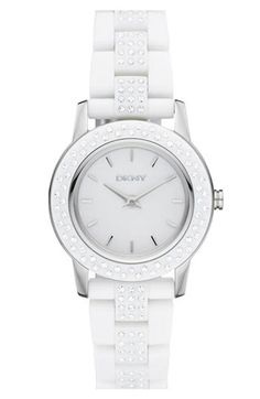 DKNY 'Glitz' Small Round Dial Bracelet Watch available at Nordstrom