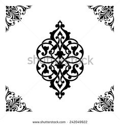 Find Ottoman Islamic ceramic floral vector border frame tile Stock Images in HD and millions of other royalty-free stock photos, illustrations, and vectors in the Shutterstock collection. Stencil Patterns, Stencil Art, Hand Embroidery Patterns, Stencils, Moroccan Art, Turkish Art, Flower Graphic Design, Motif Arabesque, Rajasthani Art