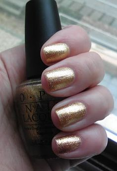 Polish or Perish: Who needs Minx? OPI Dazzled by Gold!!