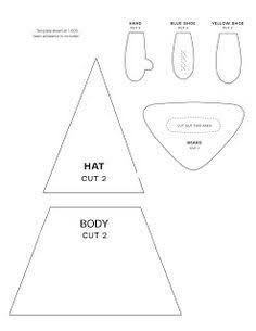 Felt Gnome Family Pattern: Hand sewing felt gnome