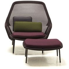 Vitra - Slow Chair & Ottoman ($2,590) ❤ liked on Polyvore