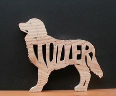 Nova Scotia Duck Toller Retriever Pet Wood Puzzle Cut On Scroll Saw