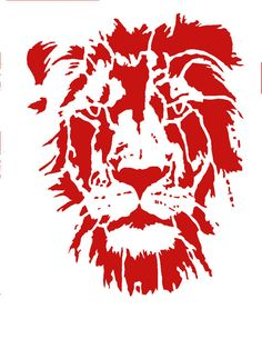 Lion Stencil Reusable 8.5x 11 by BrodrunnerStencils on Etsy