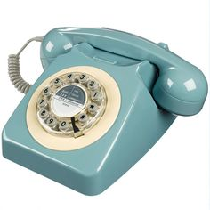 "Téléphone rétro ""746 Frenche Blue"", Bird on the wire, 65€"