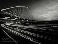 when sunset becomes friend of the harp bridge by writemailtorobert