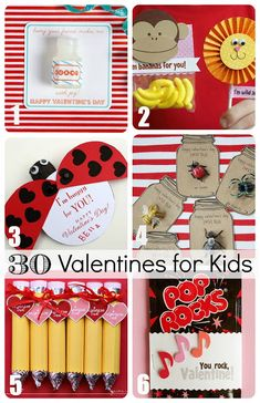 30 Valentines for Kids - from treats to toys these diy valentines have something for everyone