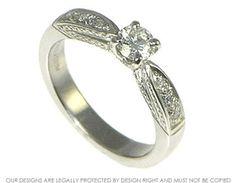 Bespoke palladium and diamond engagement ring