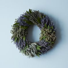 French Herb Wreath on Provisions by Food52:  Lavender, marjoram, sage, purple oregano, thyme, and bay