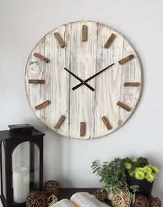 24 In Wooden Clock. Oversized Wall Clock. By WoodLaneCreation