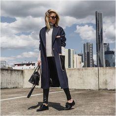 STREET LOVE From lovelifeandfashionn.tumblr.com. Spotted by Ajla Kulović. #WinterCoats #Black #Wool