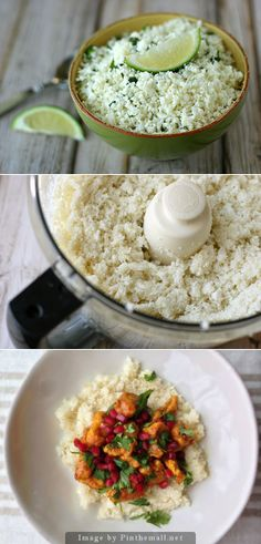 """Cauliflower Rice—I've done this for stir fry before and it's been fabulous. Will have to try it as just plain """"steamed rice"""" now!"""