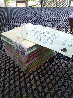 Little envelopes with sweet things written in it