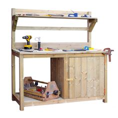 Brooklyn Trading massively discount a variety of garden supplies. Huge savings off RRP on this Wood Potting Bench for Shed, Garden or Greenhouse 165 x 64cm.