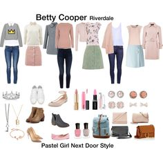 Sporty Outfits, Casual Summer Outfits, Classy Outfits, Cool Outfits, Betty Cooper Style, Betty Cooper Outfits, Teen Fashion, Fashion Outfits, Petite Fashion