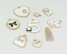 Jewellery Finding Sets – MIX 9pcs, Charm Bracelet Necklace ,DIY charms – a unique product by birdofparadise97 on DaWanda