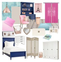 """Bedroom"" by becca-h-c on Polyvore featuring interior, interiors, interior design, home, home decor, interior decorating, Designers Guild, Redford House, Elrene Home Fashions and ESPRIT"