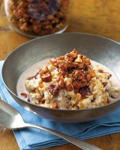 Maple Crunch Oatmeal #recipes #healthy