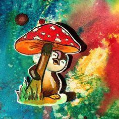 #Farbexplosion mit #Farben für #Ostereier  Das hatte ich ewig vor. @kulricke #Stempel #Pinguin #penguin #stamping