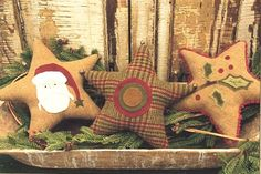 stars - these are wool, but fabric choice can be changed.