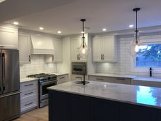 We at love the outcome of this project! It's a great feeling to see you clients soooo happy! Full House, My House, Calgary, Kitchens, Kitchen Cabinets, Interior Design, Cool Stuff, Happy, Home Decor