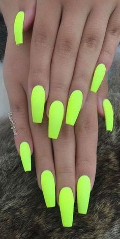 Stylish Acrylic Nail Design Ideas Perfect For 2019 - Page 7 Of . Stylish Acrylic Nail Design Ideas Perfect for 2019 - Page 7 of nail ideas 2019 - Nail Ideas Neon Acrylic Nails, Neon Nails, Yellow Nails, Acrylic Nail Designs, Nail Art Designs, Nails Design, Bright Nails Neon, Neon Design, Bright Nail Designs