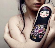 matrioska. Oh my. I want this tattoo!