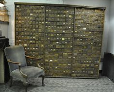 Antique Hardware Cabinet Store Display 1900s 514 Drawers- this thing is amazing, so many drawers for stuff.