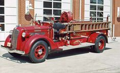 1930s Diamond T Fire Truck.