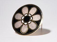 de Passille Sylvestre Enamel Brooch Pin  Daisy by LuckyPatina, $30.00