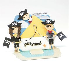 Hello and welcome to my papercrafting blog. Happy Birthday, Kids Birthday Cards, Tonic Cards, Ahoy Matey, Elizabeth Craft, Card Making Inspiration, Hobbies And Crafts, Paper Dolls, Birthdays