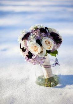 Fresh & opulent lavender, plum & ivory flowers in a wedding bouquet   flowersbyranee.com