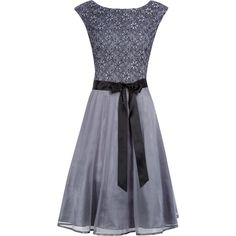 4aacfeab07 Grey Lace Flared Tulle Dress - TK Maxx