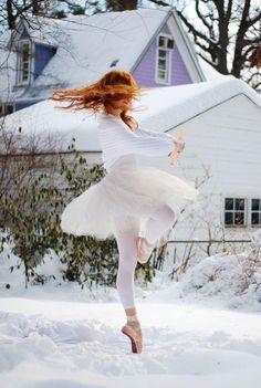 Spinning Snow Angel. A winter ballerina, how beautiful :).