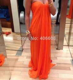 High Quality 2014 Popular Online Store A-Line Sweetheart Pleated Chiffon Long Train Charming Evening Dresses $119.00